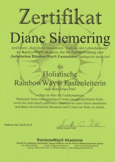 Diane Siemering - Holistische RainbowWay Fastenleiterin