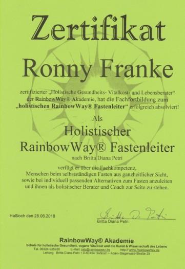 Ronny Franke - Holistischer RainbowWay Fastenleiter