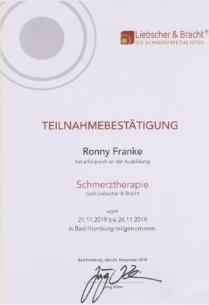 Ronny Franke - Schmerztherapie nach Liebscher und Bracht